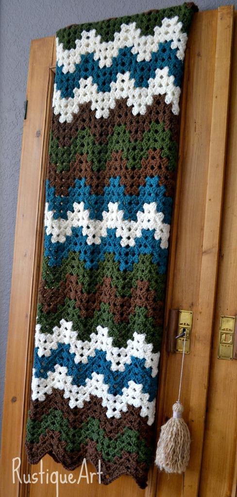 Crocheted Granny Ripple Afghan