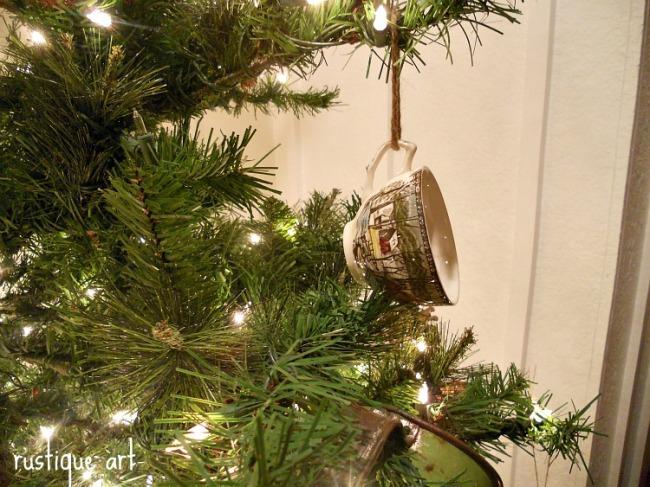 022tea cup tree ornament