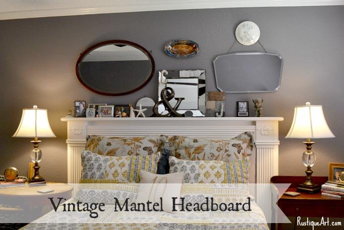 Vintage Mantel Headboard