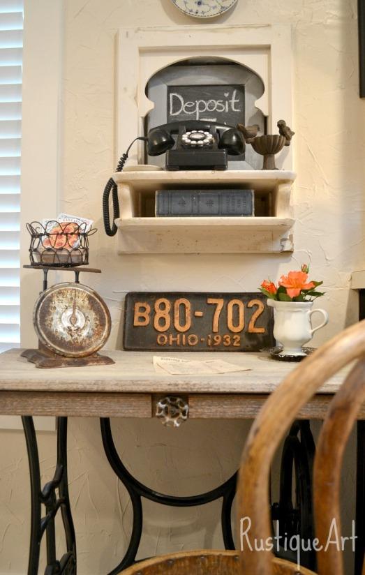 Rustic Kitchen Desk