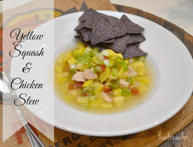 Yellow Squash and Chicken Stew