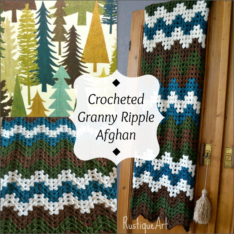 Crocheted Granny Ripple Afghan