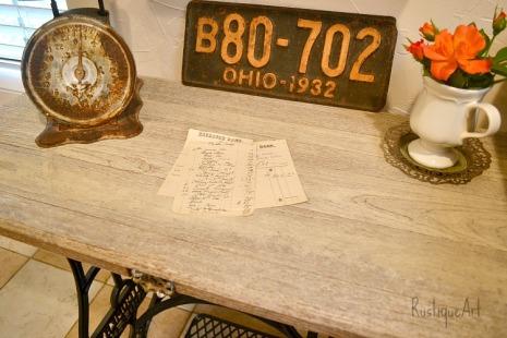 Desk Top Reclaimed Wood