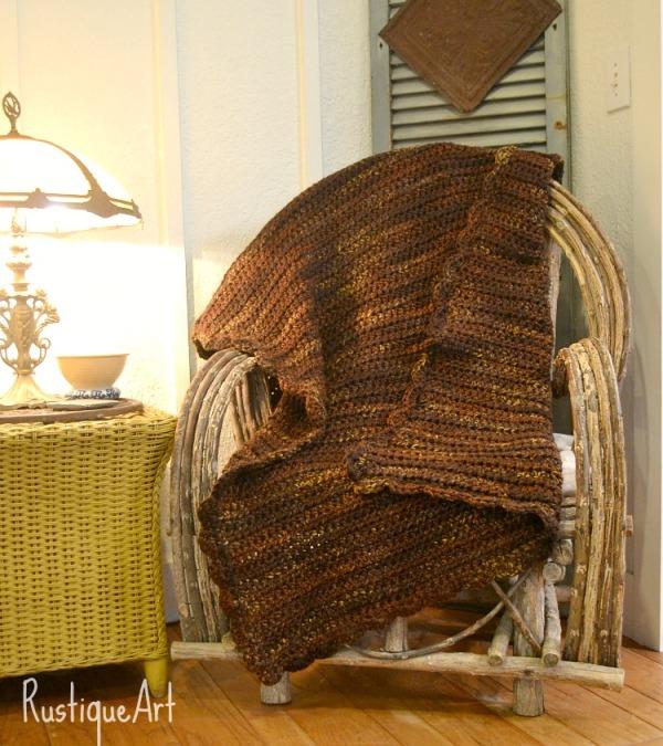 Sienna Crocheted Afghan