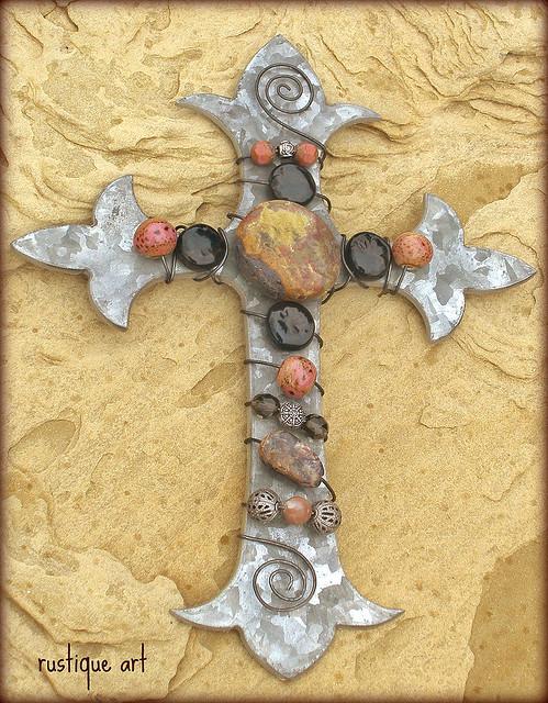 Fleur de lis Wall Cross